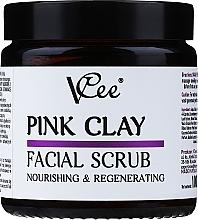 Düfte, Parfümerie und Kosmetik Nährendes und regenerierendes Gesichtspeeling mit rosa Tonerde - VCee Pink Clay Facial Scrub Nourishing&Regenerating