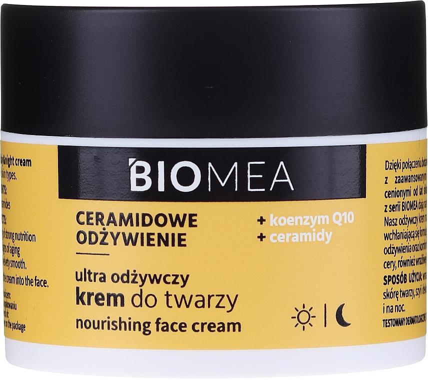 Intensiv pflegende Gesichtscreme mit Coenzym Q10 und Ceramiden - Farmona Biomea Nourishing Face Cream