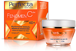 Düfte, Parfümerie und Kosmetik Ausgleichende Anti-Falten Gesichtscreme für Tag und Nacht mit Retinol 40+ - Perfecta Fenomen C 40+ Cream