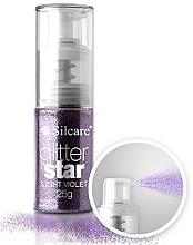 Düfte, Parfümerie und Kosmetik Schimmernde Partikeln mit Pumpenspender für Haar und Nägel - Silcare Glitter Star