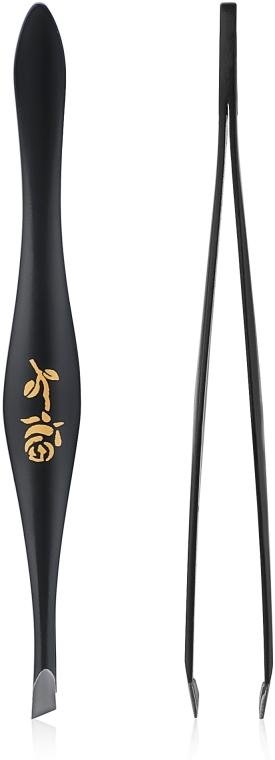 Augenbrauen-Pinzette schräg birnenförmig 499289 schwarz - Inter-Vion Rose Around Pear