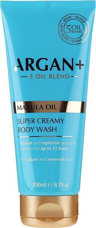 Feuchtigkeitsspendende Duschcreme mit Marulaöl - Argan+ Super Creamy Body Wash