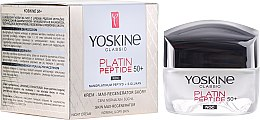 Düfte, Parfümerie und Kosmetik Nachtcreme für normale und Mischhaut 50+ - Yoskine Classic Platin Peptide Face Cream 50+