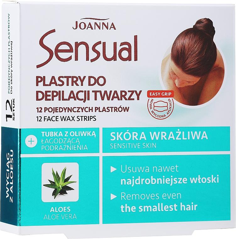 Enthaarungswachsstreifen für das Gesicht mit Aloeextrakt - Joanna Sensual Depilatory Face Strips