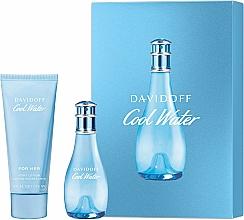 Düfte, Parfümerie und Kosmetik Davidoff Cool Water Woman - Duftset (Eau de Toilette 30ml + Körperlotion 75ml)