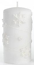 Düfte, Parfümerie und Kosmetik Dekorative Kerze weiß 7x18 cm - Artman Snowflake Application