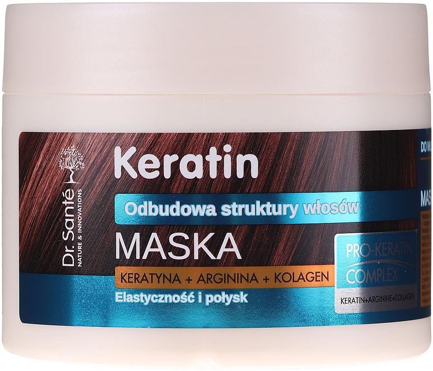 Maske für stumpfes und brüchiges Haar - Dr. Sante Keratin Mask