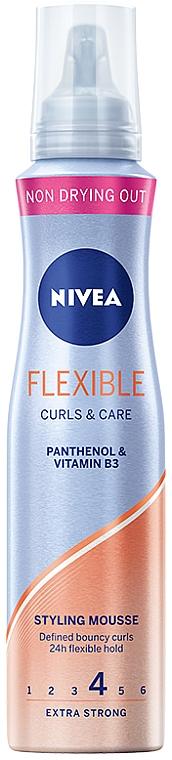 Schaumfestiger für lebendige Locken mit 24h Halt - Nivea Flexible Curls & Care