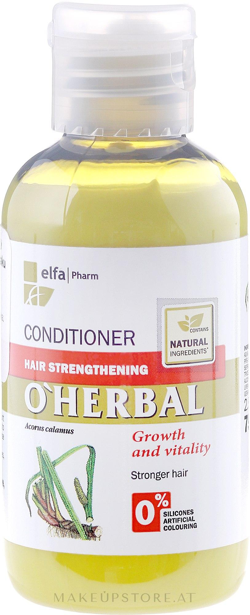 Stärkender Conditioner mit Kalmuswurzelextrakt - O'Herbal — Bild 75 ml