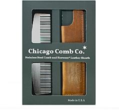 Düfte, Parfümerie und Kosmetik Haarpflegeset - Chicago Comb Co CHICA-3-SET (Haarkamm 1 St. + Case 1 St.)