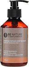 Düfte, Parfümerie und Kosmetik Regenerierende Maske mit Kollagen, Keratin, Provitamin B5 und Sheabutter für sehr trockenes und geschädigtes Haar - Beetre Be Nature Damage Repair Deep Masque