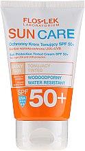 Düfte, Parfümerie und Kosmetik Tonisierende Sonnenschutzcreme für das Gesicht SPF 50+ - Floslek Sun Protection Tinder Cream SPF50+