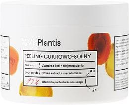 Düfte, Parfümerie und Kosmetik Körperpeeling mit Macadamiaöl und Litschibaum - Vis Plantis Sugar & Salt Body Scrub