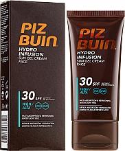 Düfte, Parfümerie und Kosmetik Wasserfestes Sonnenschutzcreme-Gel für das Gesicht SPF 30 - Piz Buin Hydro Infusion SPF 30