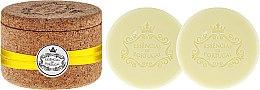 Düfte, Parfümerie und Kosmetik Naturseifen Lemon in Schmuck-Box - Essencias De Portugal Cork Jewel-Keeper Lemon Tradition Collection