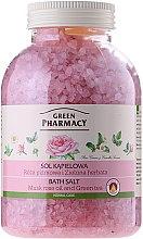 Düfte, Parfümerie und Kosmetik Badesalz mit Rosenöl und grünem Tee - Green Pharmacy