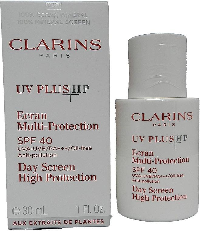Mehrfachschutz-Fluid für das Gesicht Translucent SPF 40 - Clarins UV Plus Anti-Pollution Sunscreen Multi-Protection Broad Spectrum SPF 40  — Bild N1