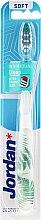 Düfte, Parfümerie und Kosmetik Zahnbürste weich Individual Clean weiß-grün mit Farnblättern - Jordan Individual Clean Soft