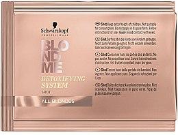 Düfte, Parfümerie und Kosmetik Detoxifying konzentrierte Salonpflege zur Wiederherstellung und Revitalisierung blonder Haare - Schwarzkopf Professional BlondMe Detoxifying System Shot