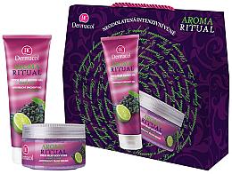 Düfte, Parfümerie und Kosmetik Körperpflegeset mit Weintraube und Limette - Dermacol Aroma Ritual Grape & Lime (Duschgel/250ml + Körperpeeling/200ml)