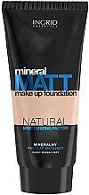 Düfte, Parfümerie und Kosmetik Mattierende und feuchtigkeitsspendende Foundation mit Mineralien - Ingrid Cosmetics Mineral Matt Make Up Foundation
