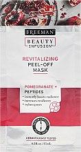 Düfte, Parfümerie und Kosmetik Regenerierende Gesichtsmaske - Freeman Beauty Infusion Revitalizing Peel-Off Mask Pomegranate + Peptides (Mini)