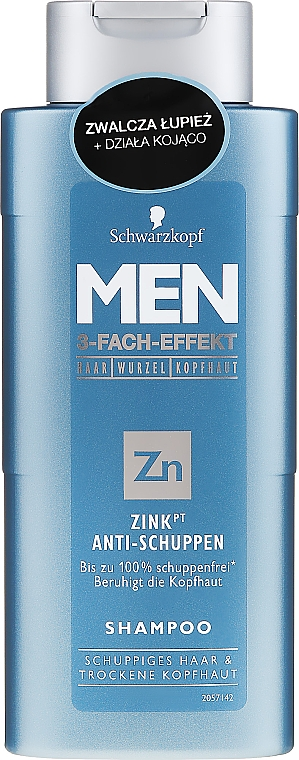 Anti-Schuppen Shampoo - Schwarzkopf Men ZinkPT Anti-Schuppen Shampoo