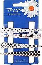 Düfte, Parfümerie und Kosmetik Haarspangen 25099 schwarz-weiß 4 St. - Top Choice