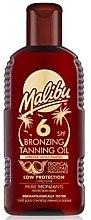 Düfte, Parfümerie und Kosmetik Selbstbräunungsöl für den Körper SPF 6 - Malibu Bronzing Tanning Oil SPF 6