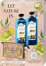 Düfte, Parfümerie und Kosmetik Haarpflegeset - Herbal Essences Argan Oil of Morocco (Shampoo 400ml + Conditioner 360ml + Kosmetiktasche)