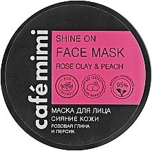 Düfte, Parfümerie und Kosmetik Gesichtsmaske für strahlende Haut mit rosa Tonerde und Pfirsich - Cafe Mimi Face Mask