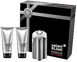 Düfte, Parfümerie und Kosmetik Montblanc Emblem Intense - Duftset (Eau de Toilette 100ml + After Shave Balsam 100ml + Duschgel 100ml)