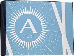 Düfte, Parfümerie und Kosmetik Azzaro Chrome - Duftset (Eau de Toilette 100ml + 2in1 Shampoo und Duschgel 100ml + After Shave Balsam 50ml)