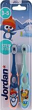 Düfte, Parfümerie und Kosmetik Kinderzahnbürste 3-5 Jahre weich Step By Step 2 St. blau+grün - Jordan Step By Step Soft Clean