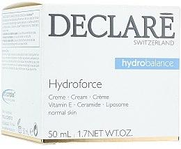 Düfte, Parfümerie und Kosmetik Feuchtigkeitsspendende Gesichtscreme mit Vitamin E, Ceramiden und Liposomen - Declare Hydroforce Cream