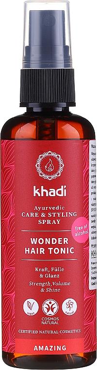 Haartonikum mit wertvollen ayurvedischen Heilkräutern für mehr Kraft, Fülle und Glanz - Khadi Wonder Hair Tonic