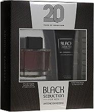 Düfte, Parfümerie und Kosmetik Antonio Banderas Seduction in Black - Duftset (Eau de Toilette 100ml + After Shave Balsam 75ml)