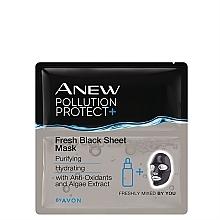 Düfte, Parfümerie und Kosmetik Reinigende und feuchtigkeitsspendende Tuchmaske für das Gesicht mit Antioxidantien und Algenextrakt - Avon Anew Pollution Protect+ Fresh Black Sheet Mask