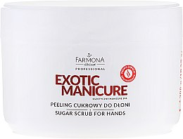Düfte, Parfümerie und Kosmetik Zucker Handpeeling - Farmona Professional Egzotic Manicure Scrub