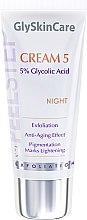 Düfte, Parfümerie und Kosmetik Schonende Anti-Aging Gesichtscreme für die Nacht mit 5% Glykolsäure - GlySkinCare Cream 5%