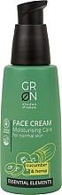 Düfte, Parfümerie und Kosmetik Gesichtscreme für normale Haut mit Gurke und Hanf - GRN Essential Elements Cucumber & Hemp Face Cream