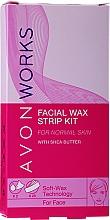 Düfte, Parfümerie und Kosmetik Wachsstreifen-Set mit Sheabutter für Gesicht - Avon Works For Face & Brown