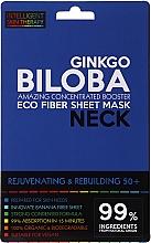 Düfte, Parfümerie und Kosmetik Verjüngende und regenerierende Tuchmaske für den Hals mit Gingko Biloba-Extrakt 50+ - Beauty Face IST Rejuvenating & Rebuilding Neck Mask Ginkgo Biloba