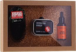 Düfte, Parfümerie und Kosmetik Bartpflegeset für Männer - Zew For Men (Revitalisierendes Bartöl 30ml + Natürliche Bartseife 85ml + Bart- und Schnurrbartbürste 1 St. + Metall Seifendose 1 St.)
