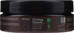 Düfte, Parfümerie und Kosmetik Styling Haarpomade mit weißem Ton - BioMan Styling Pomade