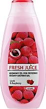 """Düfte, Parfümerie und Kosmetik Creme-Duschgel """"Litschi & Himbeere"""" - Fresh Juice Creamy Shower Gel Litchi & Raspberry"""