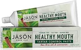 Düfte, Parfümerie und Kosmetik Zahnpasta mit Teebaumöl und Zimt gegen Zahnstein - Jason Natural Cosmetics Healthy Mouth Tartar Control Toothpaste