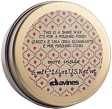 Düfte, Parfümerie und Kosmetik Cremiges Haarstylingwachs mit einem glänzenden Finish Leichter Halt - Davines More Inside This Is A Shine Wax