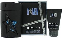 Düfte, Parfümerie und Kosmetik Mugler A Men - Duftset (Eau de Toilette 100ml + Duschgel 50ml)