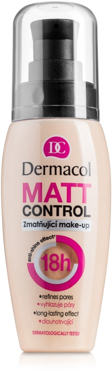 Wasserfeste mattierende Foundation - Dermacol Matt Control